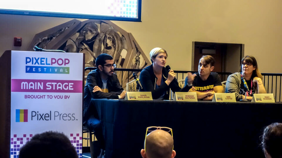 Panel discussion at PixelPop Festival 2017